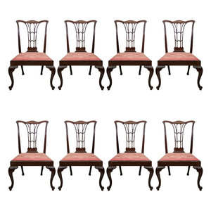 Set of 8 Chippendale Dining Chairs  George N Antiques