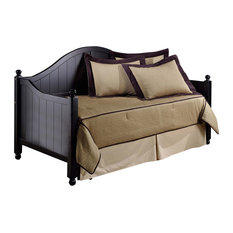 Augusta Daybed With Suspension Deck and Trundle, Rubbed Black