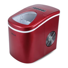 Della - Portable Ice Maker With Easy-Touch, Yield up to 26 lbs. of Ice Daily, Red - Ice Makers