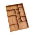 Bamboo Adjustable Drawer Organizer