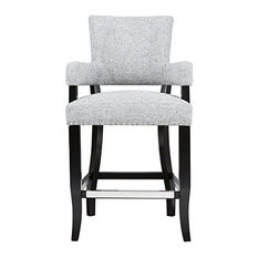 Madison Park Dawson Armstool, Gray