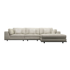 Perry 3-Seat Sofa With Ottoman, Moonbeam Fabric