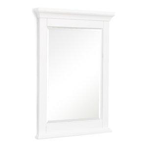 "Newport 24"" Wall Mirror, White"
