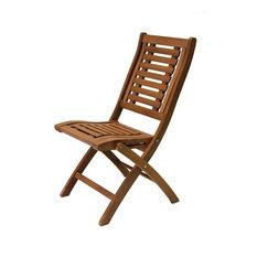 Cruz Eucalyptus Folding Side Chairs, Set of 2