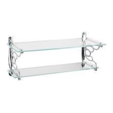 Topex Hardware Italian Designs Double Glass Bathroom Shelf