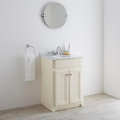 Milano Edgworth 600mm Ivory Traditional Vanity Unit   Bathroom Vanities And  Sink Consoles