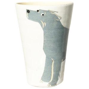 Grey Animal Cups, Irish Wolfhound, Set of 2