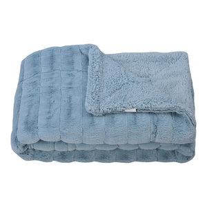 "Super Mink Faux Fur Throw Blanket, Aroan, 60"" X 80"""
