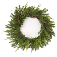 "Pine and Cone Wreath 25""D Plastic"