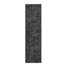"Safavieh Palazzo Woven Rug, Black/Gray, 2'x7'3"""