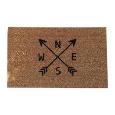 "Hand Painted ""Arrow"" Doormat, Black Soul"