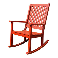 International Caravan   Acacia Large Rocking Chair, Barn Red   Outdoor Rocking  Chairs