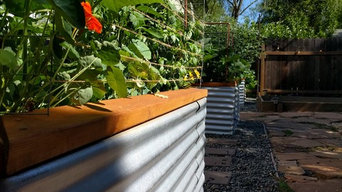 Modern Galvanized & Wood Raised Beds