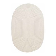 Colonial Mills, Inc - 12 Ft. X 15 Ft. Oval Rug ,White Textured Braided   by Super Area Rugs - Outdoor Rugs