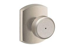 Schlage F40-BWE-GRW Bowery Privacy Door Knob Set - Nickel