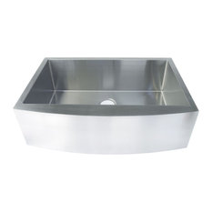 "Handmade Undermount Single Bowl Stainless Farmhouse Sink, 33""x20""x9"""