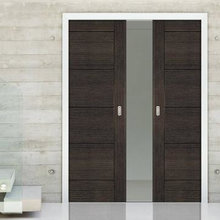 Grey Pocket Doors