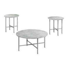 Monarch Contemporary 3 Piece Coffee Table With Grey Finish I 7966P