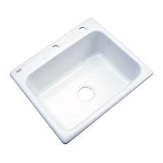 Madison 2-Hole Kitchen Sink, White