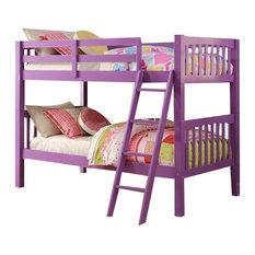 Purple Kids Bunk Beds