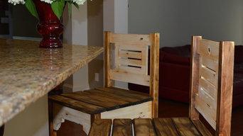 Vintage Rustic Barstools