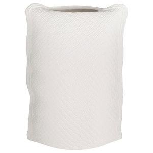 White Bag Vase, Large