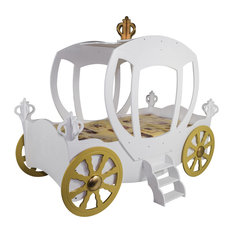 Princess Carriage Toddler Car Bed, White