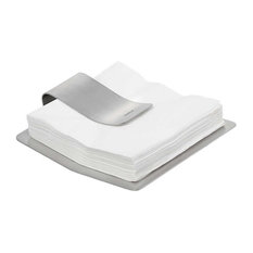 Scudo Napkin Holder by Blomus, Metallic
