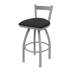 821 Catalina 25-inch Low Back Swivel Counter Stool With Canter Iron Seat