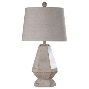 Storico Table Lamp, Cream Body, Off White Shade