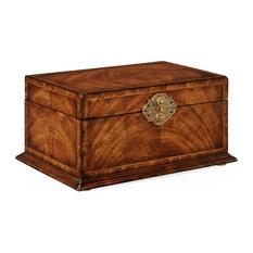 Rectangular Crotch Walnut Jewellery Box