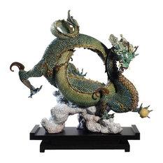 Lladro Auspicious Dragon Green Figurine