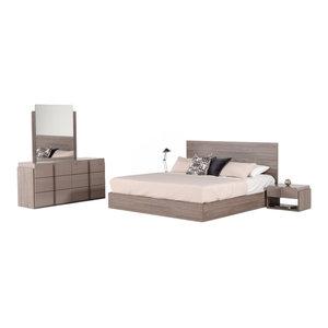 Nova Domus Marcela Italian Modern 5-Piece Bedroom Set, Eastern King