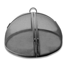 "Master Flame 39"" Diameter Stainless Steel Fire Pit Screen, Hinged Access"