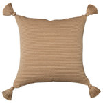 Pais Textil - Pima Cotton Pillows, Organic, Beige, 18x18, Solid - We are thrilled to be offering the fine work of País Textil. With their knowledge of contemporary Peruvian design and their commitment to the survival of an extraordinary pre-Columbian textile heritage, sisters Marta and Sandra believe that in order to preserve the living culture of textile weaving one must give it the commercial value it deserves. We present their latest contemporary adaptations of pillows, all hand loomed of the finest organic pima cotton and finished with natural color fast dyes.