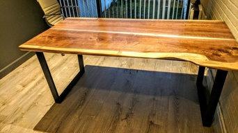 Solid wood tables custom barn doors custom wood working wood slab tables
