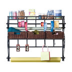 Sauder Craft and Mobile Sewing Cart in Cinnamon Cherry - Transitional - Furniture - by Homesquare