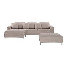 Oslo Grey Sectional Sofa, Beige
