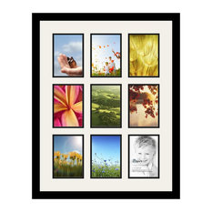 ArtToFrames Collage Photo Frame With 9 - 5x7 Openings and Satin Black Frame