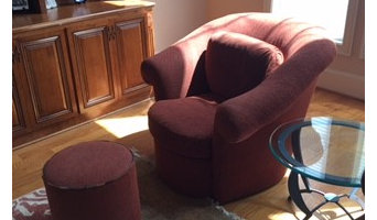 Swivel Club Chairs - Before and After