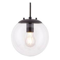 Sferra Pendant Light with Bulb, Black