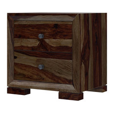 Farson Contemporary 2 Drawer Rustic Nightstand by Sierra Living Concepts