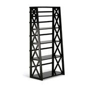 Kitchener Solid Wood Ladder Shelf, Dark Walnut Brown