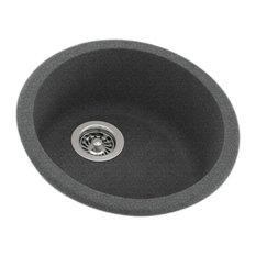 Swan 18.5x18.5x8 Solid Surface Drop Bar Sink, Night Sky