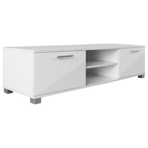 VidaXL High Gloss TV Cabinet, White, 120 Cm