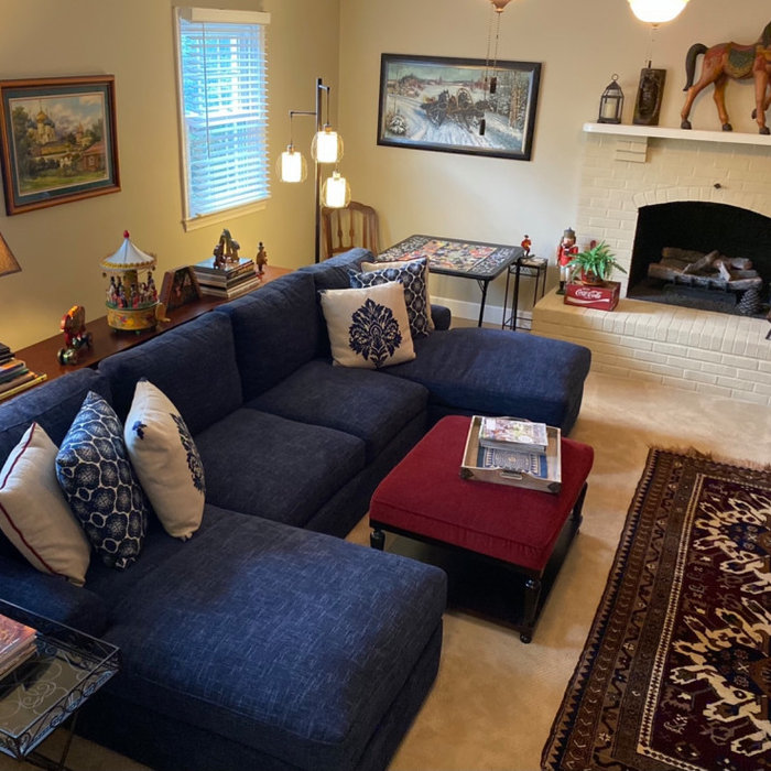 Family Room with a Place to Put up Their Feet