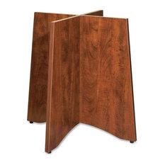 Lorell_biehler   Lorell Essentials Table Base, 24 W X 48 D X 29 H, Wood