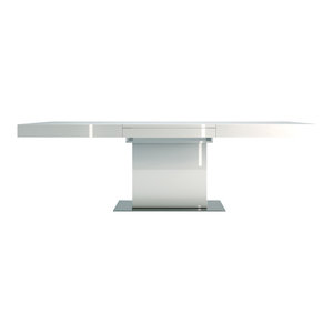 Astor Dining Table, White Lacquer