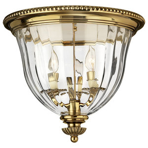 Cambridge Solid Brass Flush Mount Ceiling Light