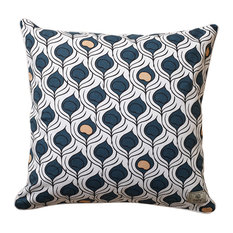 Bold Print Peacock Pride Scatter Cushion Cover, Small